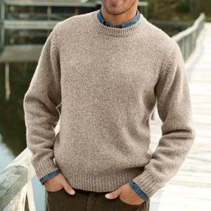 L.L. Bean Sweaters - LL Bean Men's Wool Crewneck Sweater Sz XL